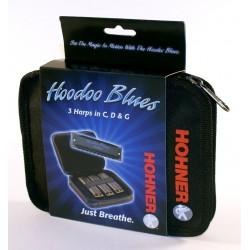 Hohner Ensemble Harmonica HooDoo Blues Pack (3) C,D,G