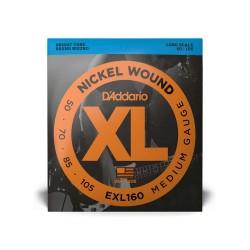 D'Addario XL Bass 4 Cordes Long, Medium 50-105