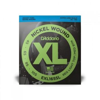 D'Addario XL Bass Sft/Top R/Btm Super Long 45-105